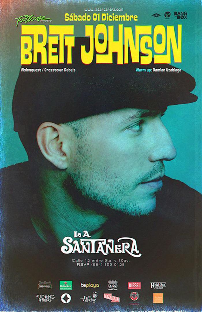 Brett Johnson @ La Santanera , Playa del Carmen