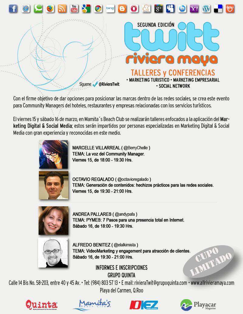 Twitt Riviera Maya @ Playa Mamitas