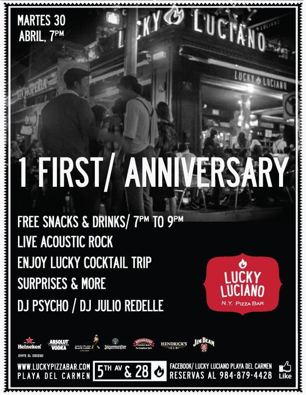 1 Aniversario @ Lucky Luciano