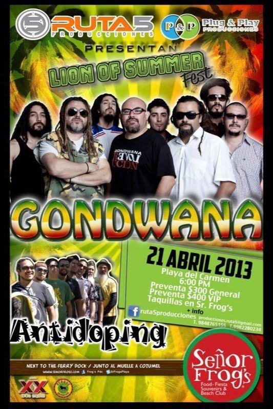 Gondwana & Antidoping @ Sr. Frogs Playa del Carmen