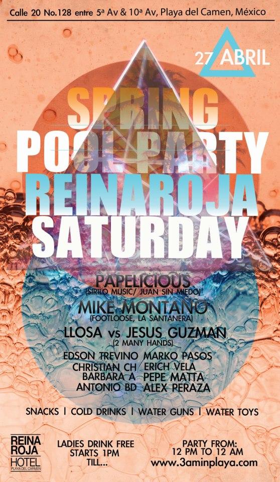 Spring Pool Party @ Reina Roja