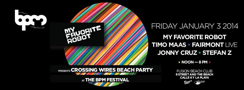 Crossing Wires Beach Party @ Fusion Beach - BPM 2014