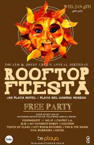 RoofTop Fiesta @ Be Hotel Playa del Carmen
