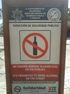 No beber en vía pública