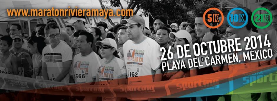 Maratón Riviera Maya 2014 @ Playa del Carmen