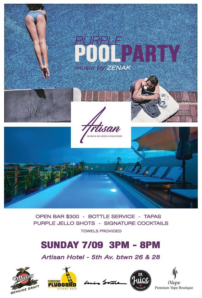 Purple Pool Party @ Artisan Hotel