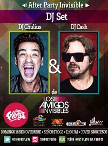 After Party Invisible @ Sr. Frogs - Playa del Carmen