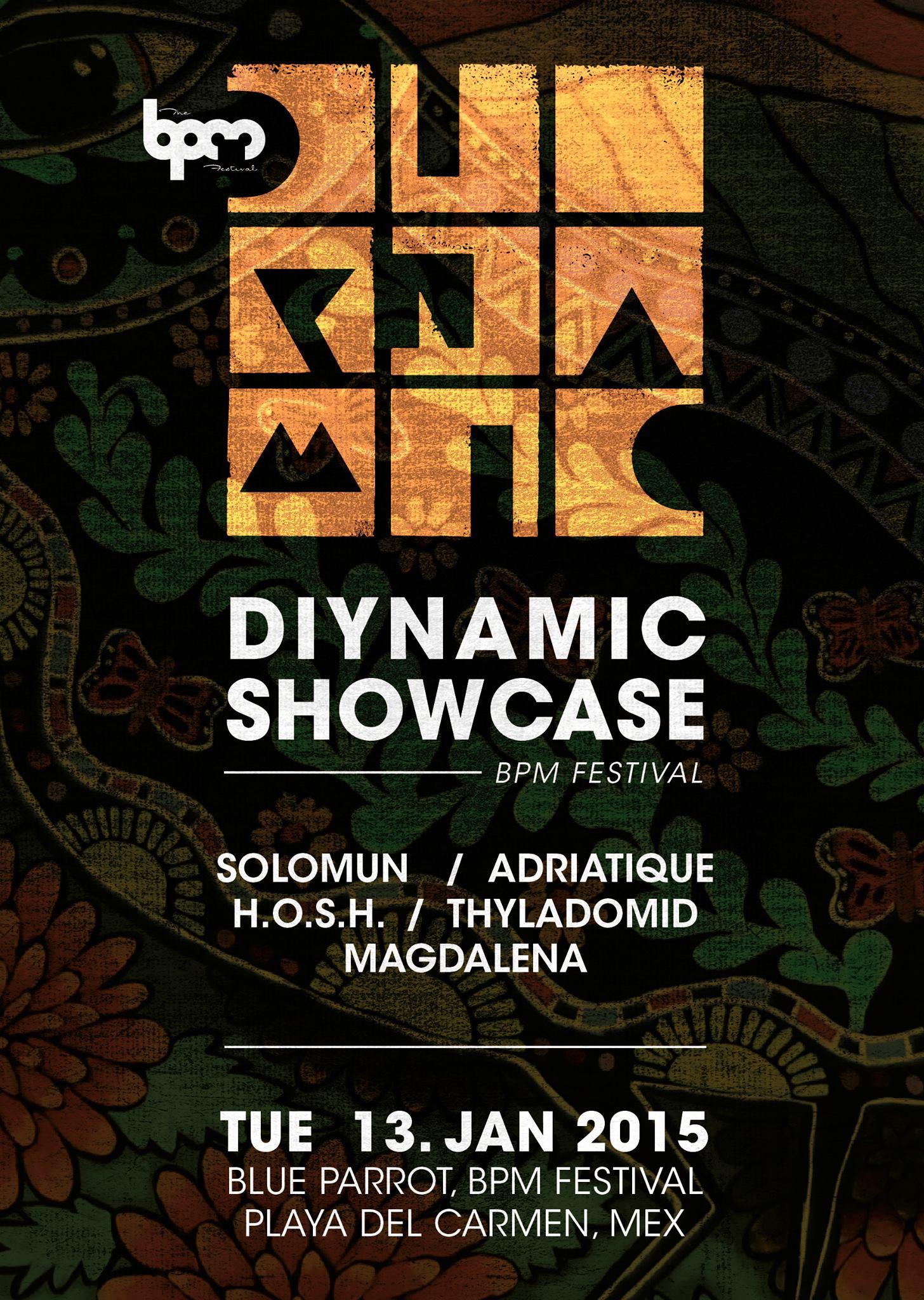 DIYNAMIC MUSIC Showcase - BPM 2015 @ Blue Parrot