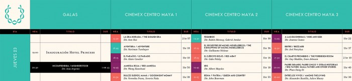 Cartelera - Riviera Maya Film Festival 2015