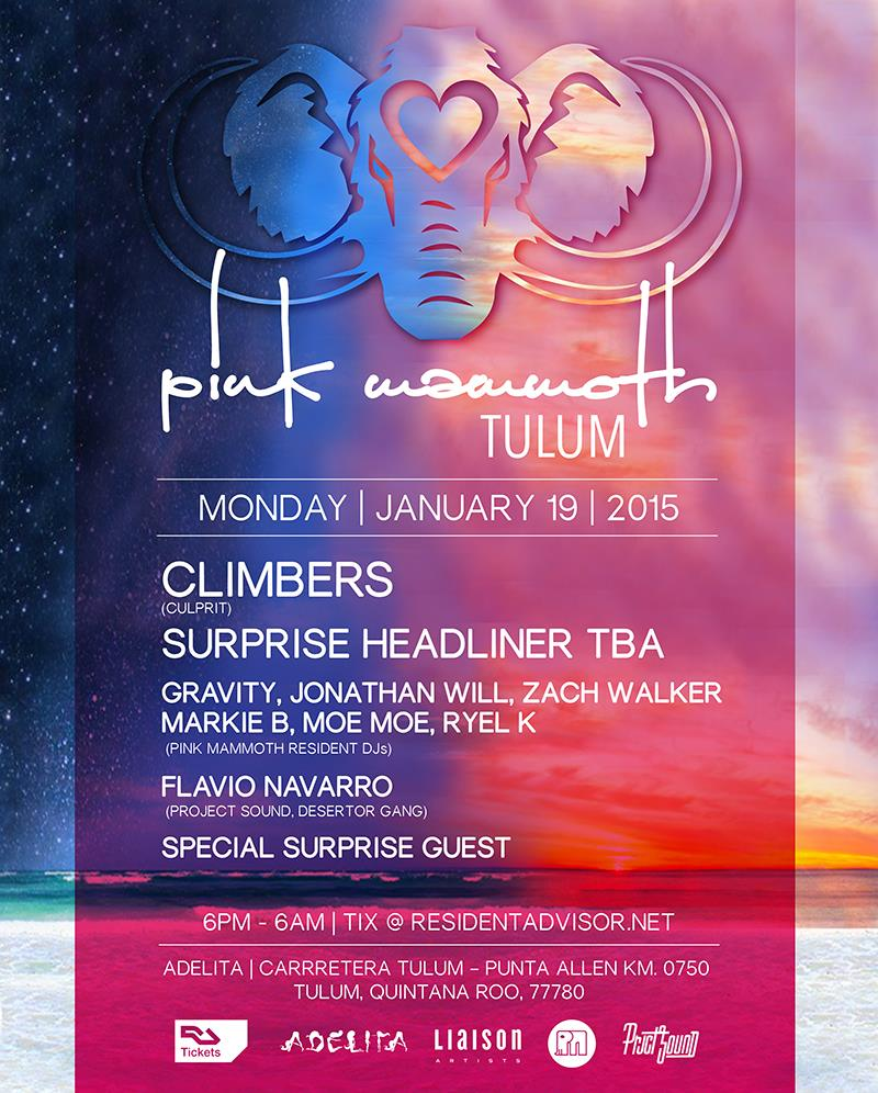 Pink Mammoth @ Bar Adelita - Tulum