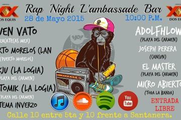 Rap Night @ Bar Lambassade - Playa del Carmen