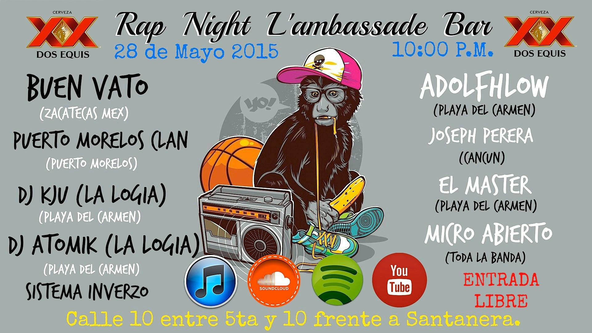 Rap Night @ Bar Lambassade - Playa del Carmen