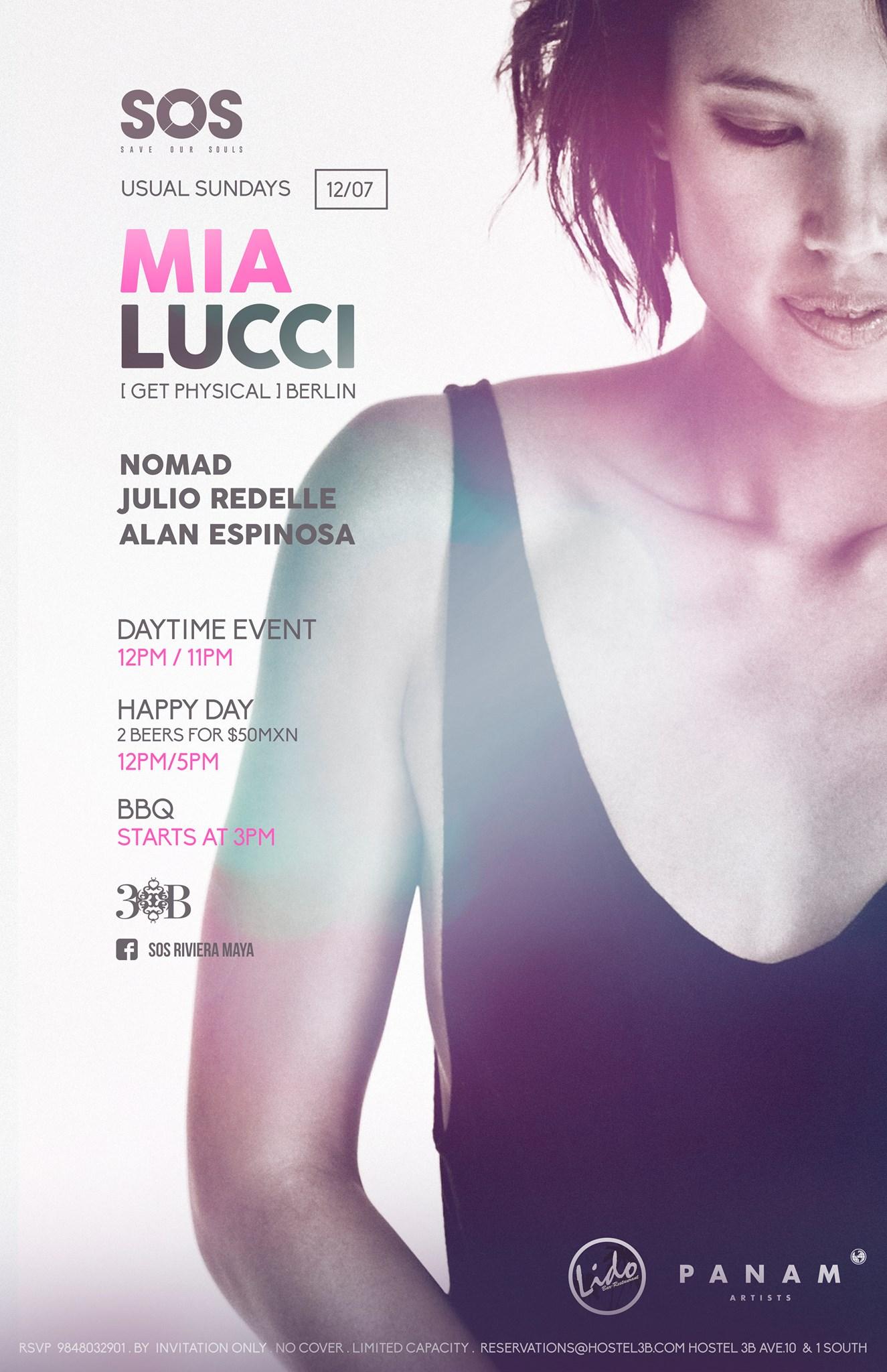 Mia lucci @ SOS Lounge - Playa del carmen