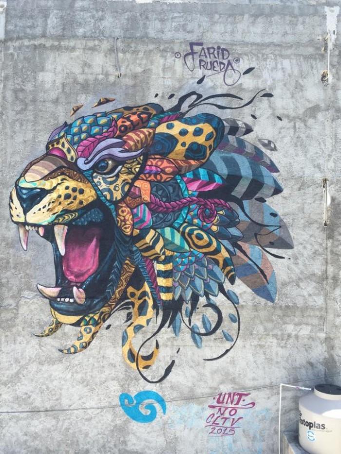 Mural pintura Playa del Carmen