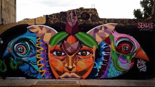 Street art in playa del carmen viva playa the gonzalo guerrero neighborhood and the center of the city like the extensions of 5th avenue have transformed the murals into works of art of these maxwellsz