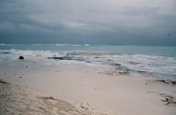 Lluvia en Playa del Carmen