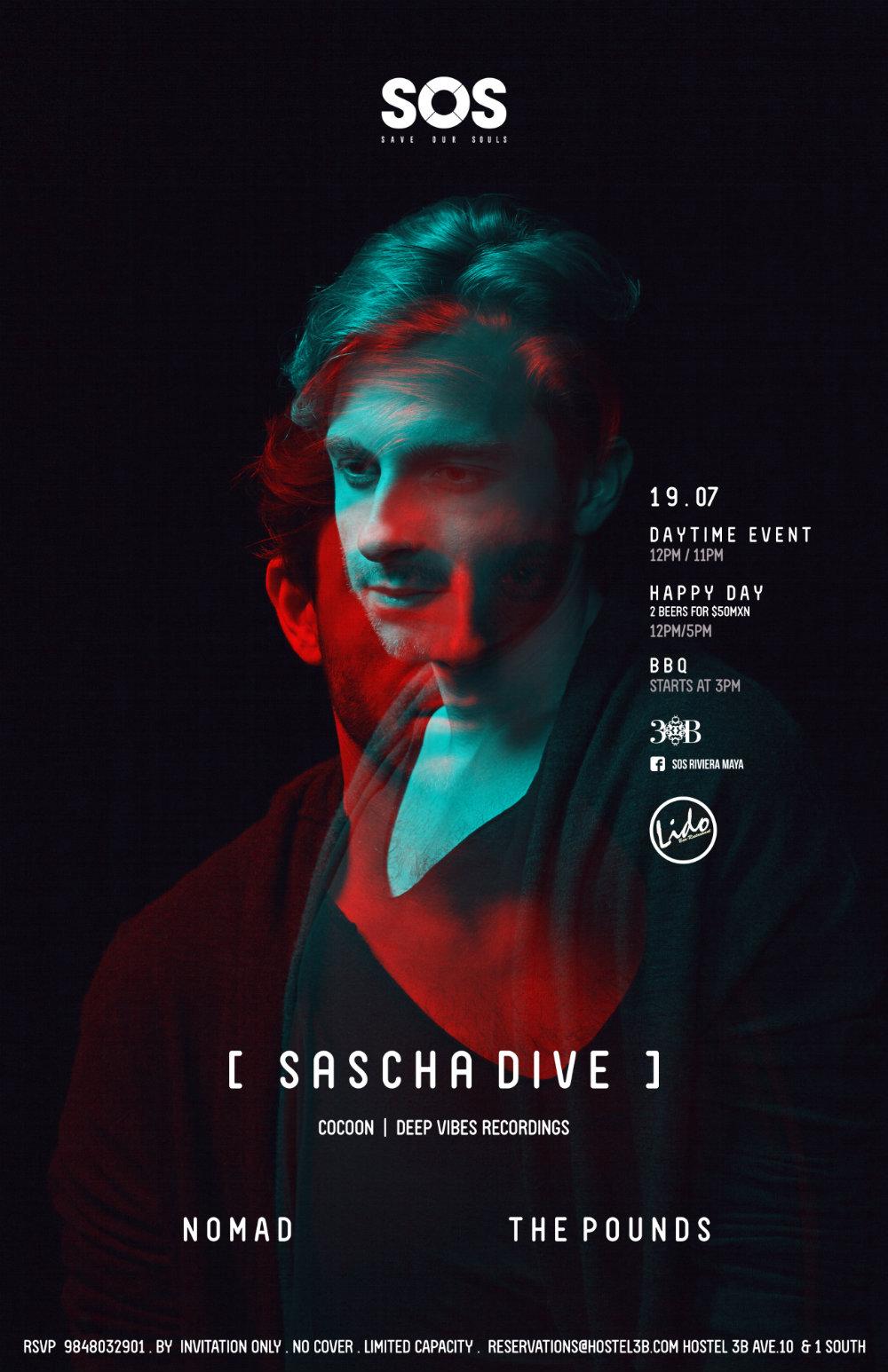Sascha Dive @ SOS Lounge - Playa del Carmen