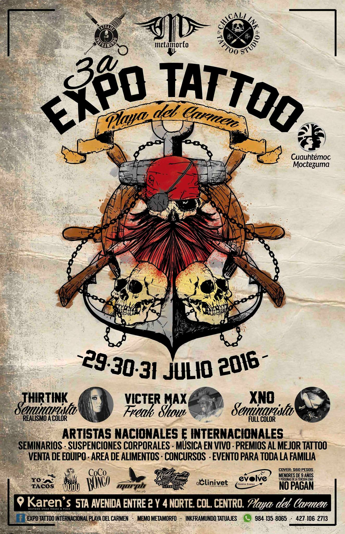 Expo Tattoo Playa del Carmen 2016