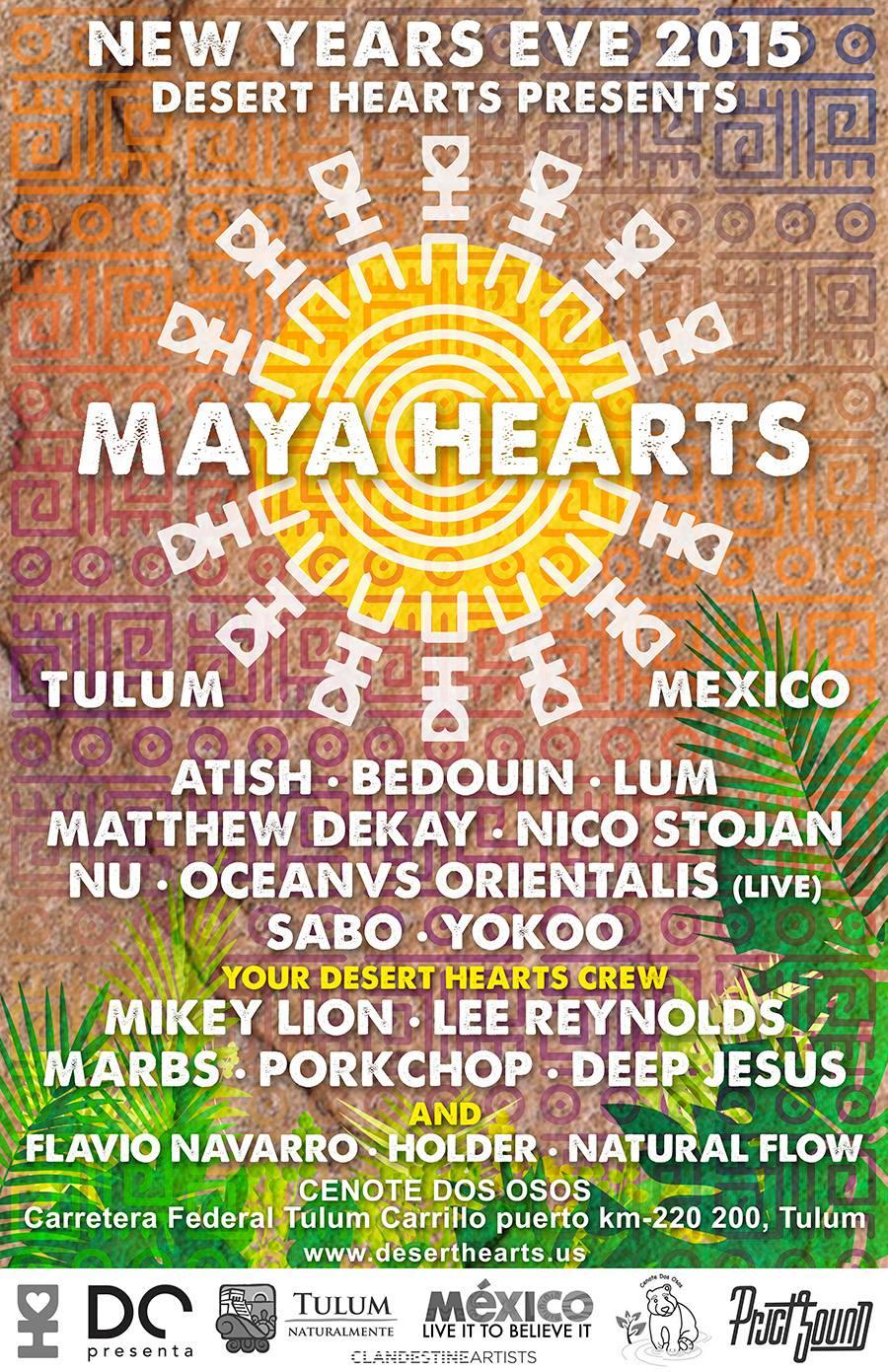 Maya Hearts NYE 2015 @ Tulum
