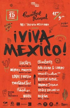 Viva México 2015 @ Canibal Royal Playa del Carmen