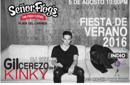 Gil Cerezo de Kinky @ Señor Frogs Playa del Carmen
