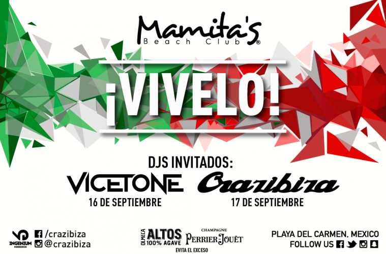 ¡VIVELO! @ Mamitas Beach Club Playa del Carmen
