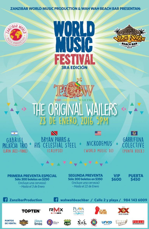 World Music Festival 3ra edición @ Wah Wah Beach - Playa del Carmen
