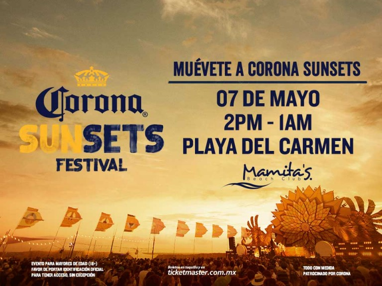 Corona Sunsets Mamitas Beach Club