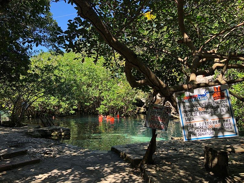 Cenote Cristalino playa