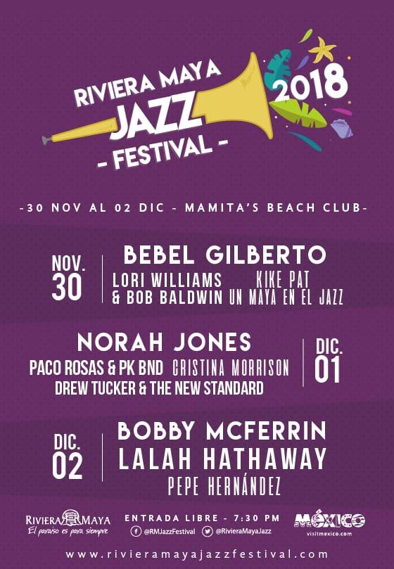 Riviera Maya Jazz Festival 2018 Playa del cARMEN