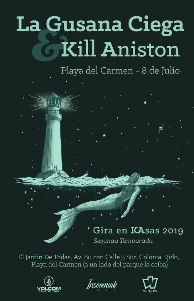 Eventos playa del carmen - La Gusana Ciega - Viva Playa
